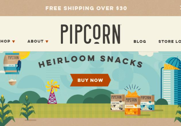 Pipcorn Heirloom Snacks: Popcorn, Cheese Balls, Corn Chips, Crackers– Pipsnacks LLCキャプチャー