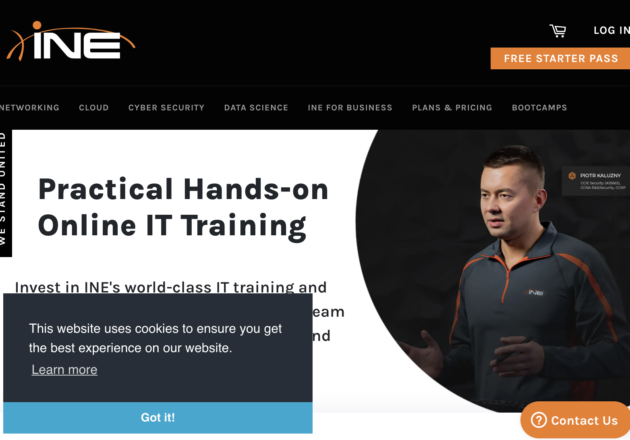 Expert IT Training for Networking, Cyber Security and Cloudキャプチャー
