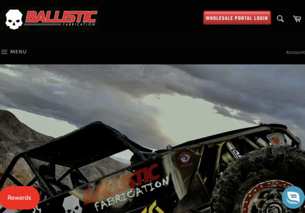 High quality parts for fabricators and off-road enthusiasts– Ballistic Fabricationキャプチャー
