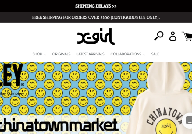 """X-girl US Official Site - """"Real Girls' Clothing"""" Since 1994キャプチャー"""